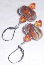 *CHARISMA* Earrings Artisan Lampwork Crystal