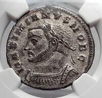 GALERIUS 301AD Authentic Ancient Roman Coin Genius NGC Certifieed MS i61386