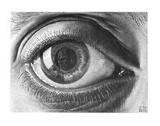 Eye by M. C. Escher Skull in Eyeball Fantasy Weird Odd Poster 21.75x15.75