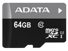 Adaptador de 64GB Adata Turbo microSDXC tarjeta de memoria CL10 UHS-1 w/SD