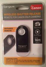 Targus Wireless Shutter Release - Infrared Remote For Canon DSLR Cameras - NEW