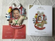 Hallmark Baby's First Christmas 2012  Photo Holder  Ornament Rocking Horse New