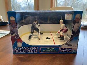 Starting Lineup Freeze Frame Gretzky & Hull Hasbro Vintage 1999