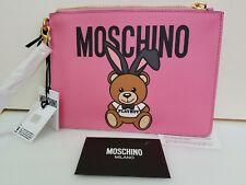 NEW Moschino Couture TEDDY BEAR BUNNY Women Clutch Color Pink