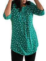 Shirt Longshirt Bluse Tunika grün Ulla Popken 42 44 46 48 50 52 54 56 62 64 66