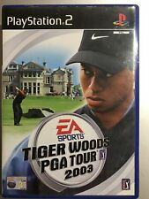 TIGER WOODS PGA TOUR 2003 SONY PLAYSTATION 2 , 2002 PS2 GOLF GAME
