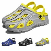 Men Summer Outdoor Clogs Slippers Slip On Closed Toe Sandals Beach Shoes 39-44 B