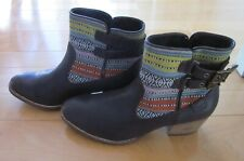 CAT Caterpillar Wms Brown & Aztec Style Ankle Boots Sz 11 *Sharp Must C*