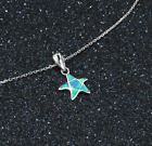 Opal Starfish Necklace, 925 Sterling Silver, Gift Boxed, Chain, Christmas Gift