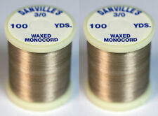 Danville's Flymaster Plus 3/0 Monocord waxed 2 pack, Beige