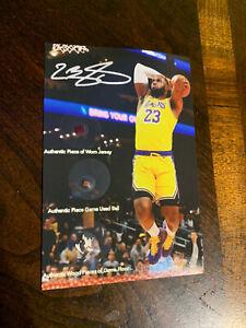 Lebron James worn relics Jersey Basketball Game Floor NBA Lakers Non Auto Card