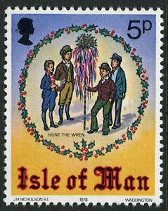 Isle of Man 141, MI 137, MNH. Christmas. Hunt the Wren, 1978