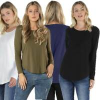 Long Sleeve T Shirt Top Megan by BETTY BASICS Plus Size 10 12 14 16 18 20 22