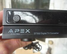 APEX DIGITAL TV CONVERTER BOX WITH MOD DT502 ANALOG PASS THROUGH WITH REMOTE NOS