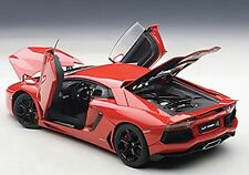 Autoart LAMBORGHINI AVENTADOR LP700-4 ROSSO ANDROMEDA/RED BLACK WHEELS 1/18 New!