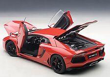 Autoart LAMBORGHINI AVENTADOR LP700-4 ROSSO ANDROMEDA/RED BLACK WHEELS 1/18 New!