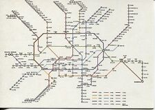 OVER SIZE POST CARD WITH MAP OF THE SHANGHAI SUBWAY SYSTEM WITH STOPS & LINES