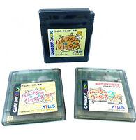 Lot Game Boy Trilogie Hamster Paradise 1, 2, 3 ATLUS Nintendo GB Color japonais