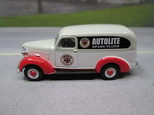 1939 CHEVY PANEL TRUCK  AUTOLITE SPARK PLUGS  LOOSE S SCALE DIE-CAST