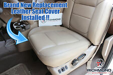01 Ford F250 7.3L Diesel Lariat PERFORATED Leather Driver Bottom Seat Cover TAN