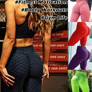 Women's Anti-Cellulite High Waist Yoga Pants Gym Tiktok Leggings Push Up Sport