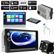 """Car Stereo Radio Bluetooth Audio Receiver Double 2Din 7"""" Touch Screen Usb Aux Tf(Fits: Toyota Highlander)"""