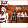 1:35 Resin Figure Model Kit Sexy Girl Tank Modern WWII Unpainted Unassembled