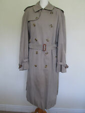 *WOW* GENUINE VINTAGE BURBERRY'S MEN'S TRENCH COAT / MAC CREAM 50 REG J SORENSEN
