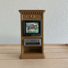 FIsher Price 1999 Loving Family TV Console Stand with Changing Screens & VCR
