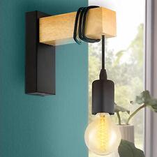 Lampada Applique da Parete Muro legno e Metallo Design Moderno Industriale E27