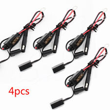 4 Pcs Car Battery Charger/Tender Cable Ring Terminal Harness Quick Disconnect