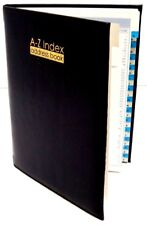 A - Z Index Book Leather Cover Executive Padded Address Book Telephone Book New