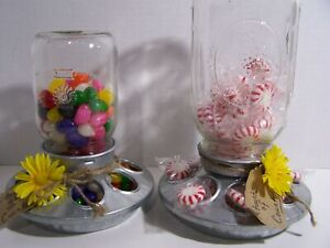 """(2) """"Touch Of Country""""  Chick Feeder Candy Dispensers For Home~New Materials"""