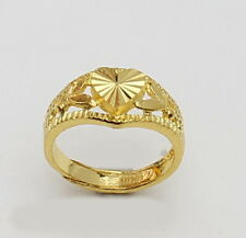24k solid gold baby heart shape ring   #b3