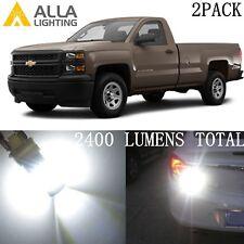 Alla Lighting LED Turn Signal Light Blinker/ Brake Lamp White Bulbs for Chevy