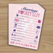 MARRIAGE BUCKET LIST Words Of Wisdom HEN NIGHT PARTY GAME