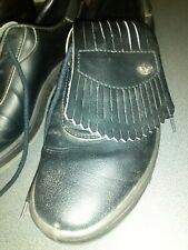 New listing Golf shoes Adidas Black leather with spikes VGC SIZE UK 9.5