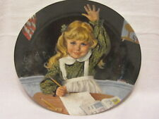 Vtg Edwin Knowles Becky'S Day Collection Fourth Issue Learning Is Fun Plate Mib