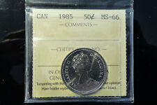 1985 Canada fifty 50 cents **ICCS MS-66**