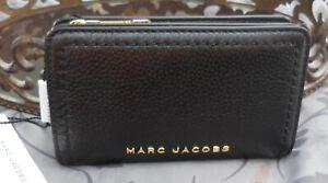 MARC JACOBS ~Pebbled Leather Medium Bifold Wallet~BLACK~NWT $185