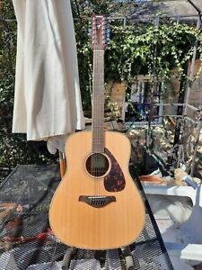 Yamahs FG 820-12. 12 String Acoustic With A Moulded Firm Case