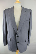 AUSTIN REED BRITISH TAILORED CHESTER BARRIE PURE WOOL PINSTRIPED BLUE JACKET 43""