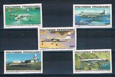 D0741 - POLYNÉSIE - Timbres Poste Aérienne N° 148 à 152 Neufs** Non Dentelés