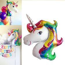 2pcs Unicorn Rainbow Foil Helium Balloon Birthday Children Party Decoration Toys