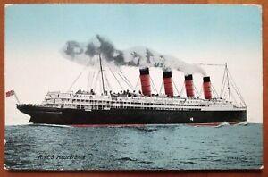 RMS MAURETANIA VINTAGE POSTCARD