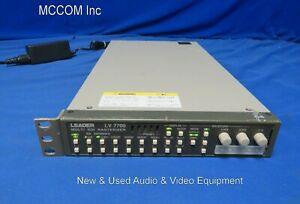 Leader LV-7700 Multi SDI Rasterizer HD/SD, Waveform, Vector, Audio w/powersupply