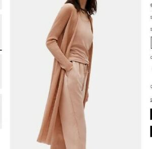Eileen Fisher LIMITED EDITION SHEER ORGANIC COTTON LONG CARDIGAN Large MSRP $318