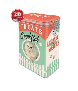31107 Caja con clip cat treats good boy nostalgic art coolvintage