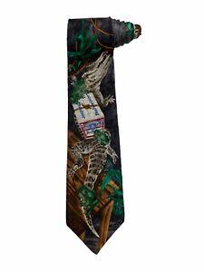 Genuine Collection Budweiser Alligator Frogs Vintage Novelty Necktie