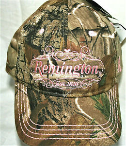 Unique Pink Camo Remington 1816 Guns Womens Sparkle Baseball Cap Hat New OSFM